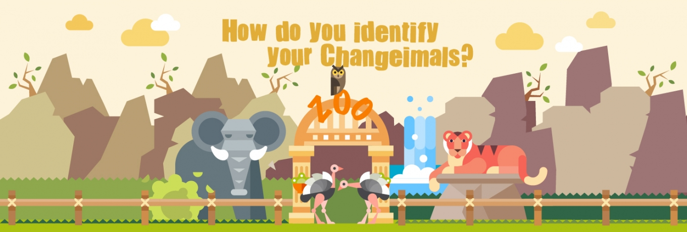 How do you identify your Changeimals?