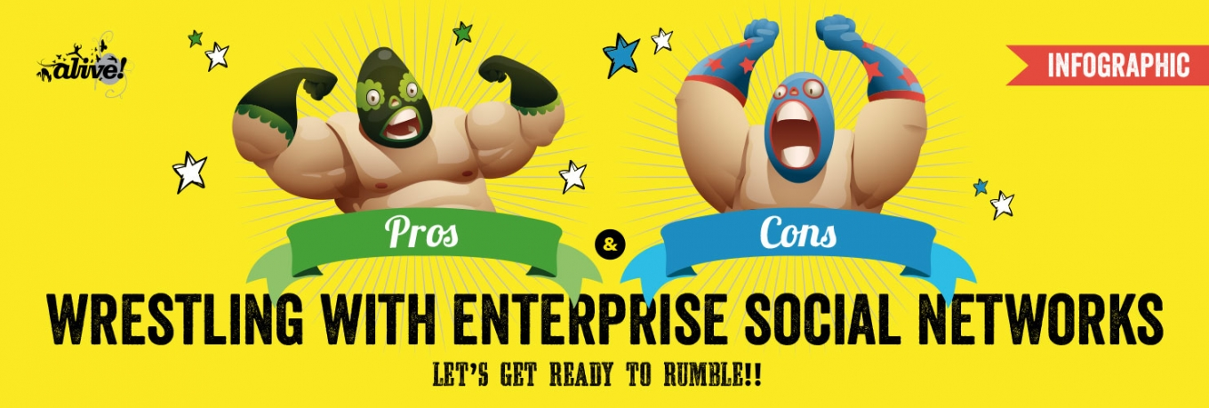 Infographic: Wrestling with the Pros and Cons of Enterprise Social Networks?
