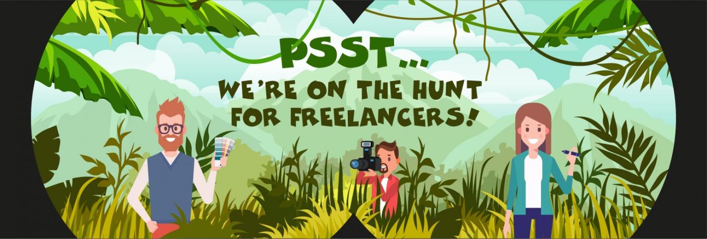 Psst….we're on the hunt for freelancers!