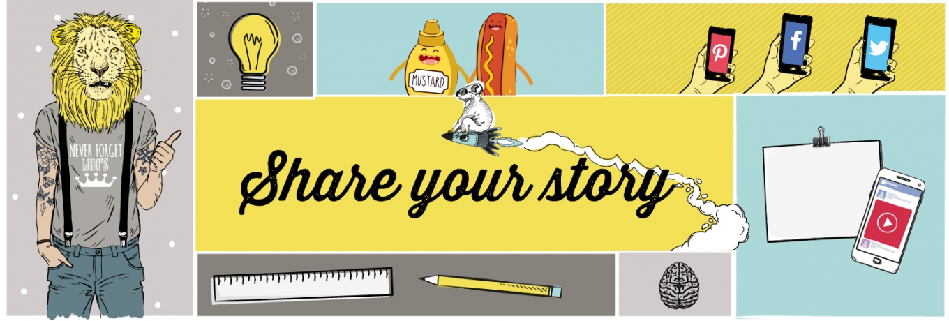 Share your story with vibrant visual content