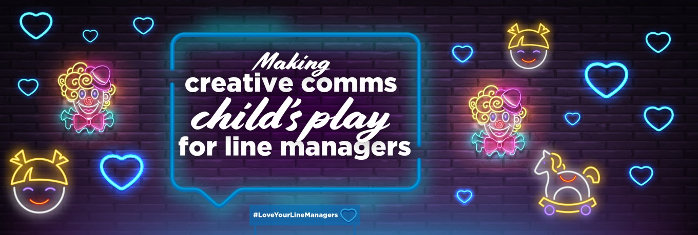 Making creative comms child's play for line managers