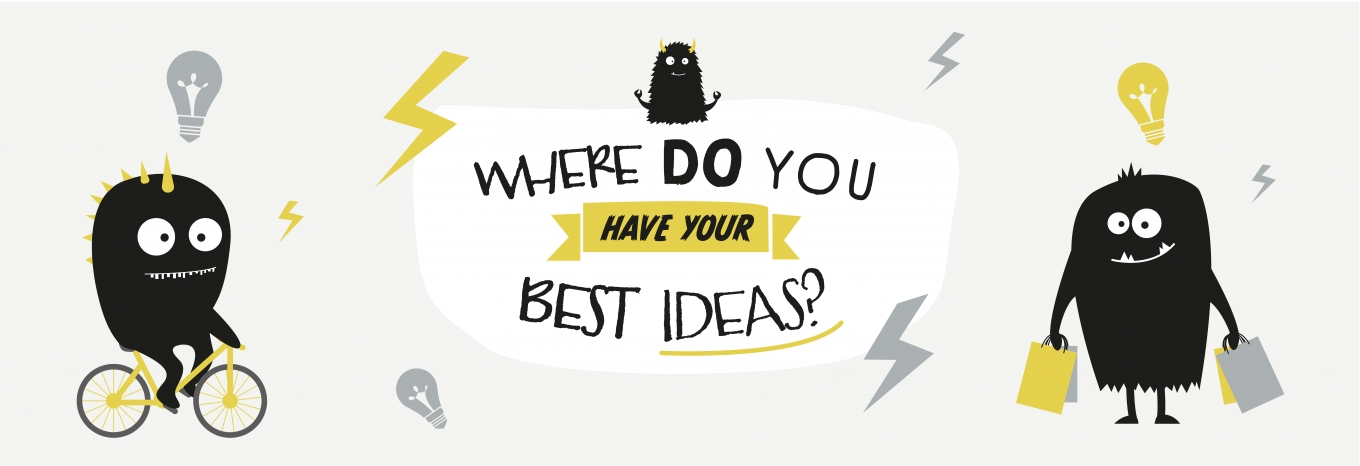Infographic: Where do you have your best ideas?