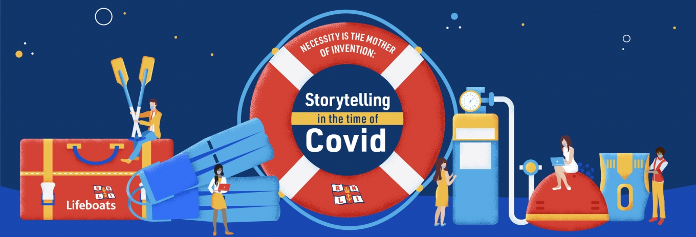 Necessity is the mother of invention: Storytelling in the time of Covid