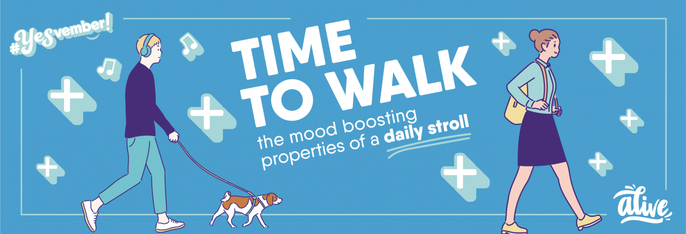 Time to walk: Mood boosting properties of a daily stroll and what to listen to whilst doing it