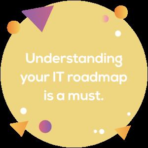 Circular image: Understanding your IT roadmap is a must.